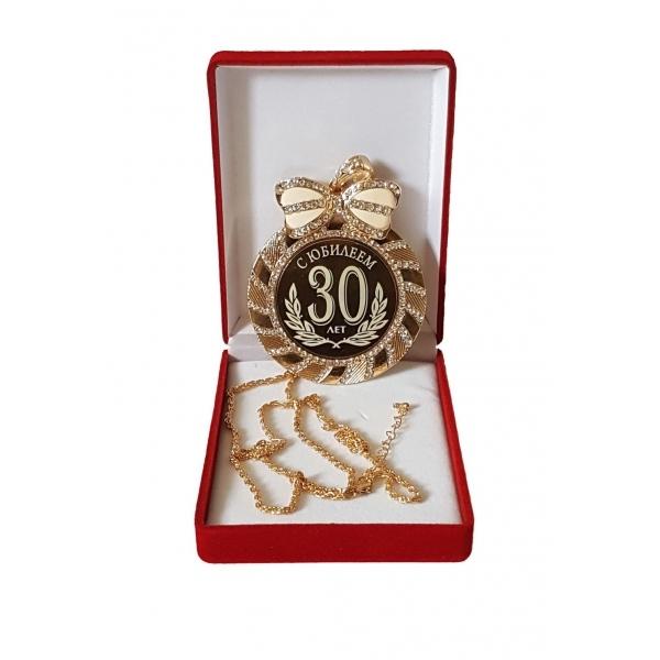 Медаль с Юбилеем 30 лет стразы