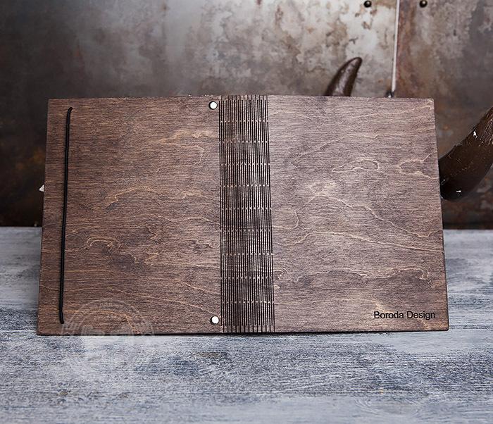 BC133-2 Оригинальный деревянный блокнот на кольцах фото 05