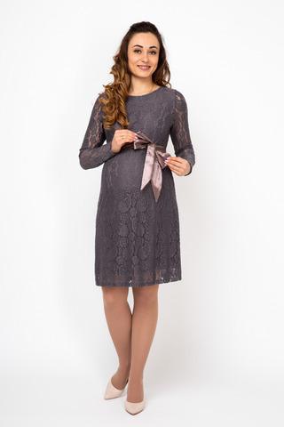 Платье для беременных 08194 коричневый