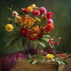 Садовые цветы - набор для вышивания бисером, 516