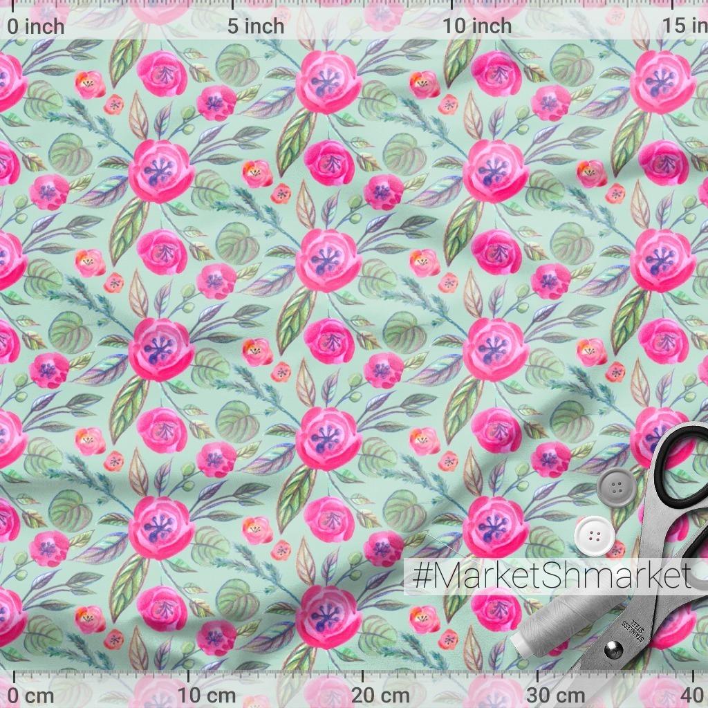 розовые акварельные цветочки