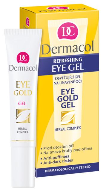 Dermacol Eye Gold Gel Освежающий гель для уставших глаз, 15мл