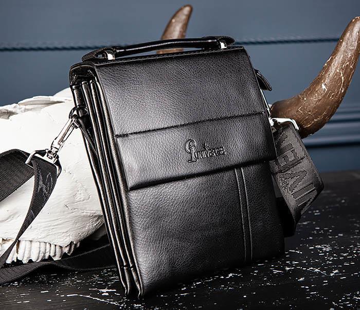 BAG560-1-3 Мужская кожаная сумочка с ручкой и ремнем фото 04