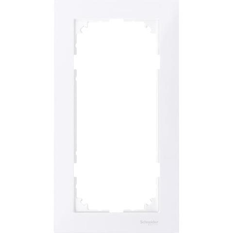 Рамка на 2 поста, без перегородки. Цвет Бриллиантовый белый. Merten. M-Pure System M. MTN4025-3625