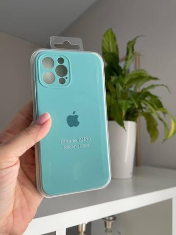 iPhone 12 (6.1) Silicone Case Full Camera /sea blue /