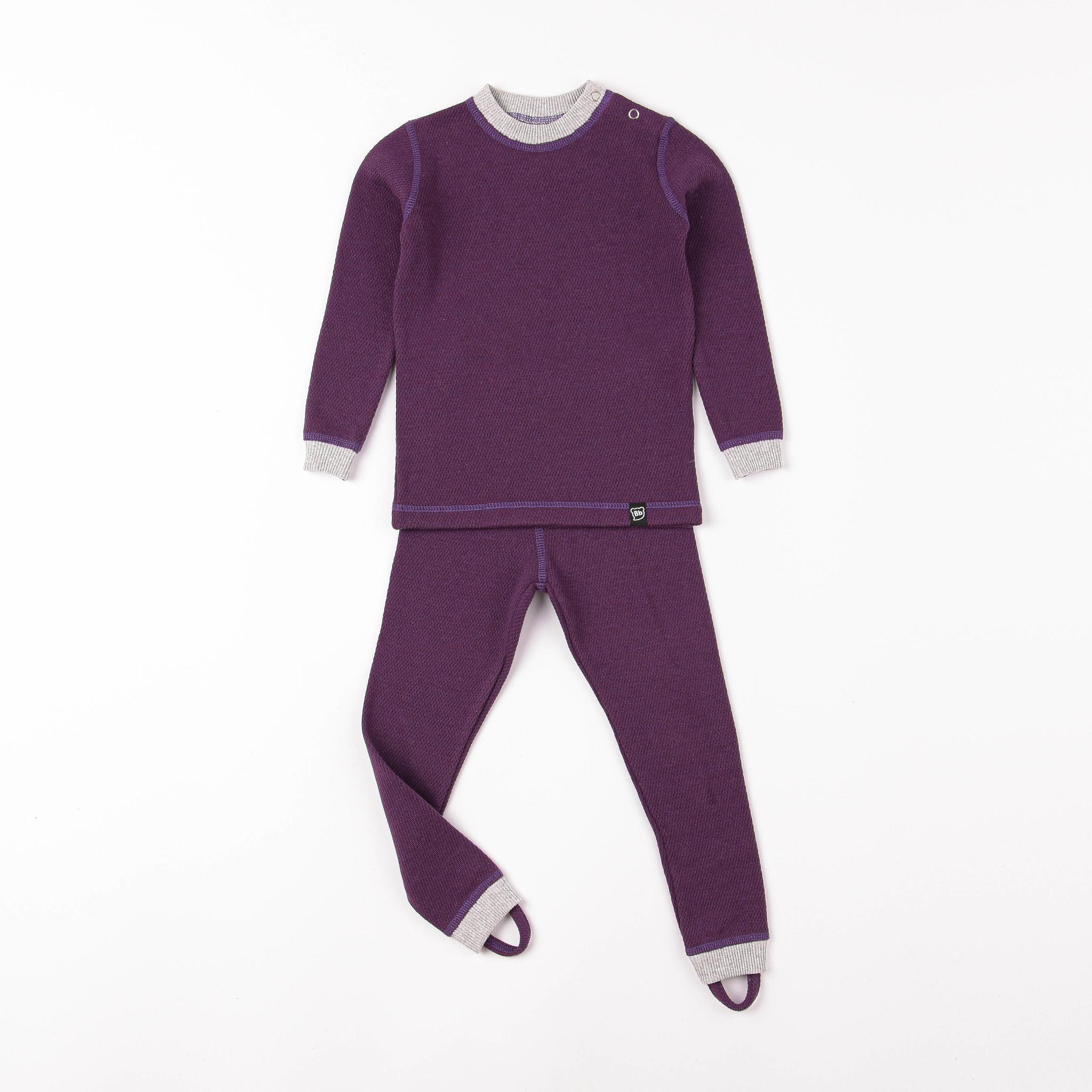 Thermal underwear set - Plum