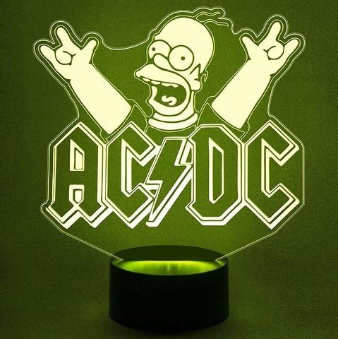 Рок-Группа ACDC c Гомером Симпсоном