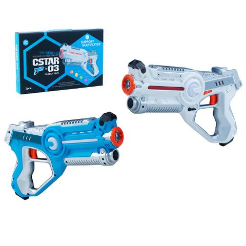 Игровой набор лазертаг,лазерный бой, бластеры 2 шт CSTAR-03 BB8803A /Tongde/