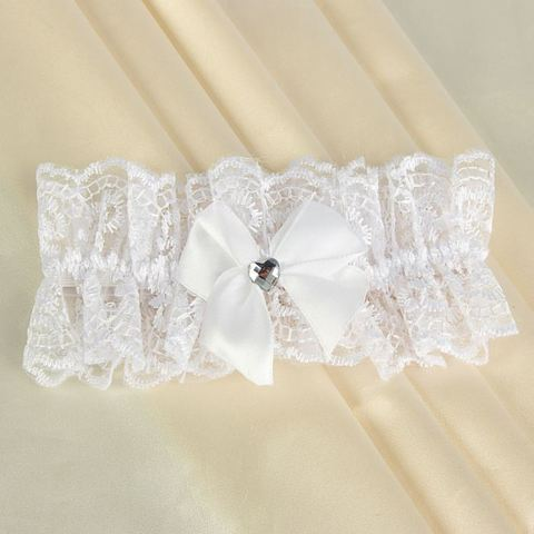 Подвязка кружевная белая 40-46 р-р
