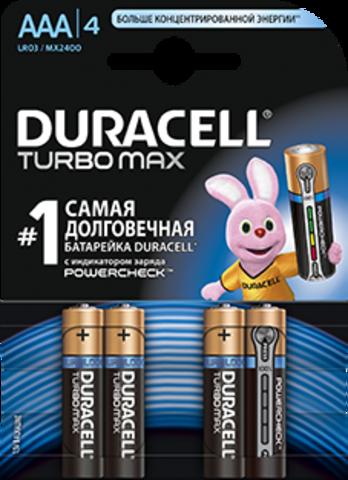 Батарейки Duracell Turbo LR03, AAA (4/40) BL
