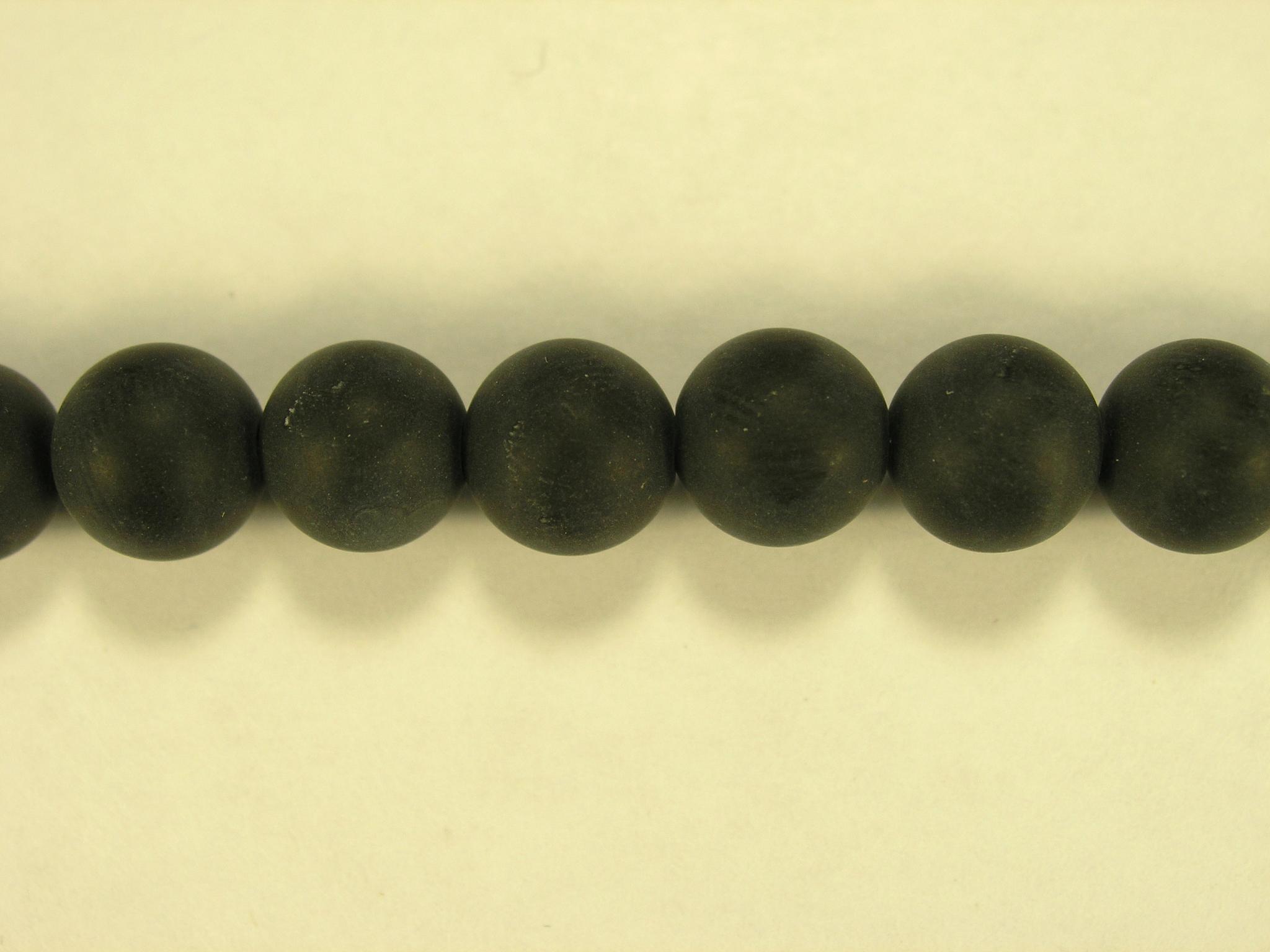 Бусина из оникса черного матового, шар гладкий 8мм