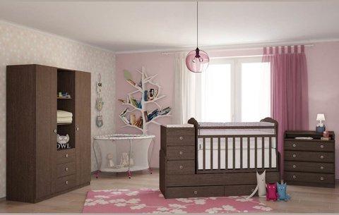 Кровать детская Фея 2100 венге