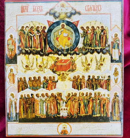 Икона Все святые на дереве на левкасе мастерская Иконный Дом