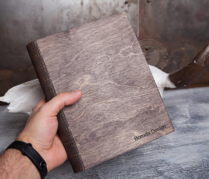 BC133-2 Оригинальный деревянный блокнот на кольцах фото 07