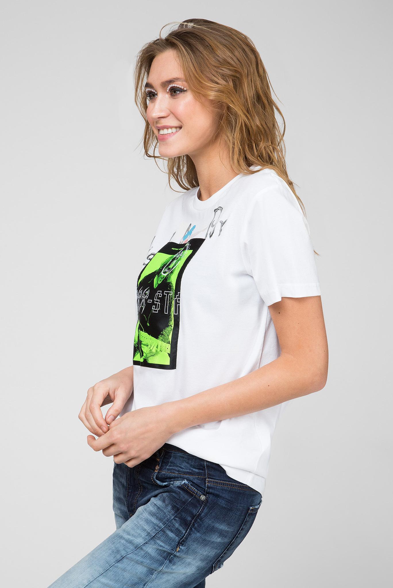 Женская белая футболка T-DARIA-Y Diesel