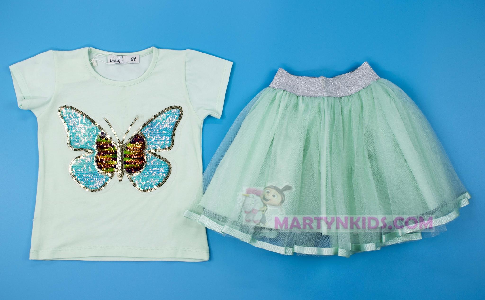 3169 костюм юбка Бабочки