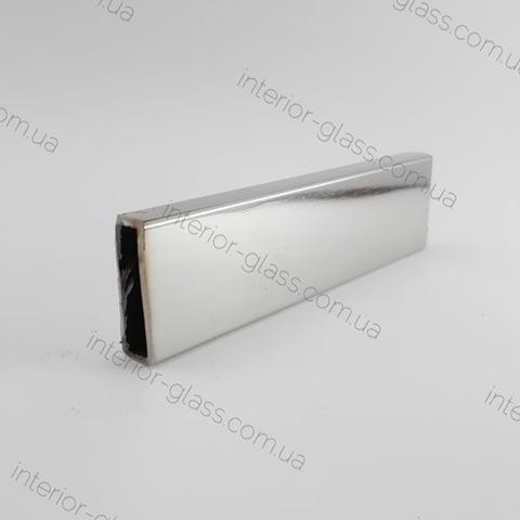 Труба, штанга 30*10 мм T-30-10-1,5 PSS полированная нержавеющая сталь, 1,5 метра