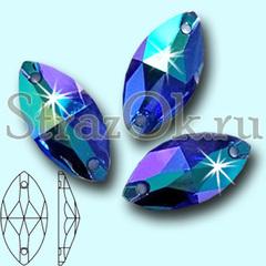 Заказать и купить стразы по почте Navette Sapphire AB синие