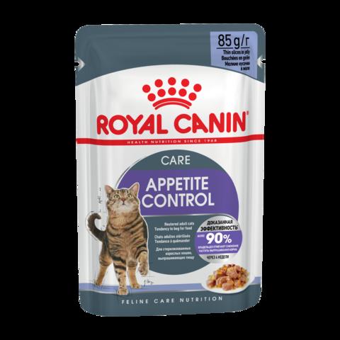 Royal Canin Appetite Control Care Консервы для взрослых кошек для контроля выпрашивания корма в желе