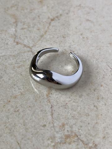 Кольцо Жасмин, серебряный цвет