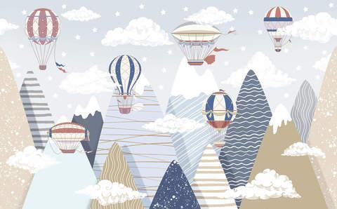 Дизайнерские обои Перелет через Альпы