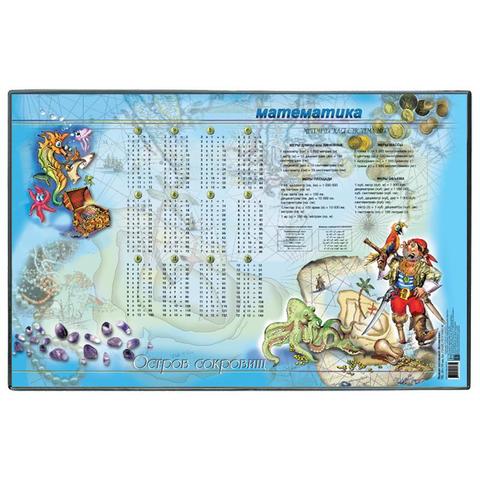 Коврик на стол  380x590мм Математика, с картоном и картинкой внутри