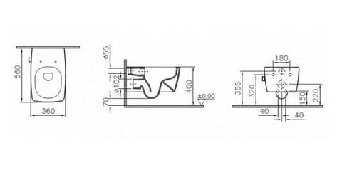 Унитаз подвесной  с бидеткой и встроенным смесителем VitrA Metropole 7672B003-1084