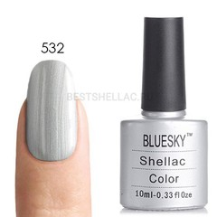 Гель-лак Bluesky № 40532/80532 Silver Chrome, 10 мл