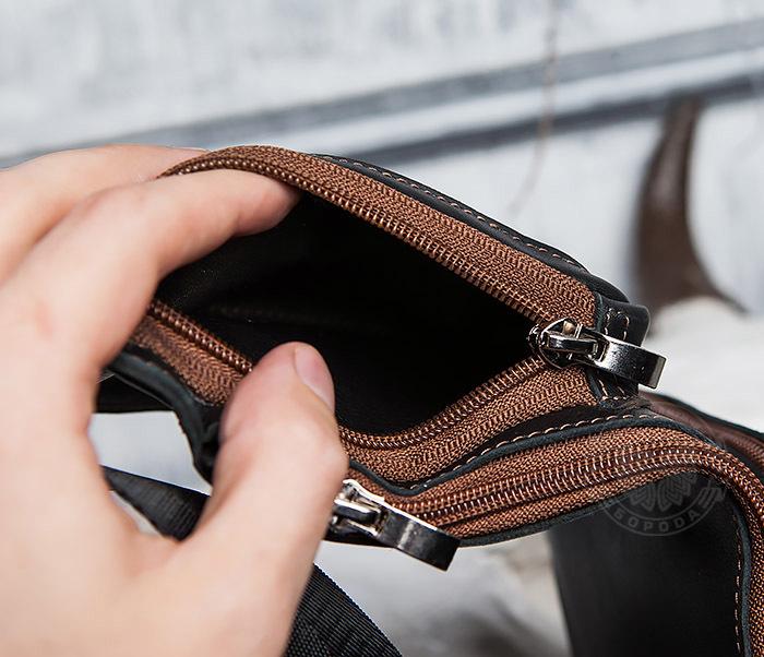 BAG415-1 Крутая мужская сумка рюкзак с одной лямкой, ручная работа фото 10