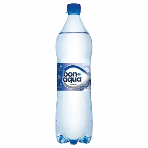 Вода питьевая BONAQUA газ 1 л пл/б КАЗАХСТАН