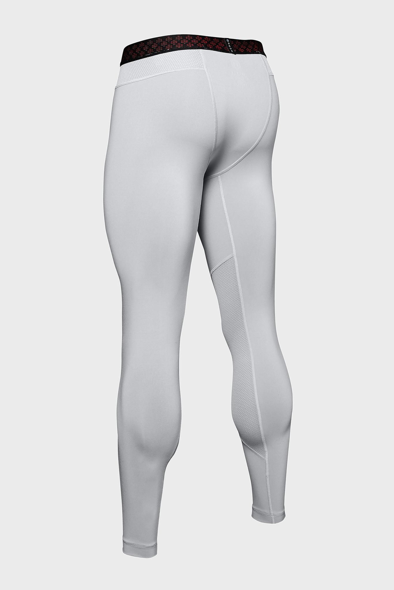 Мужские светло-серые тайтсы UA Rush Legging Under Armour