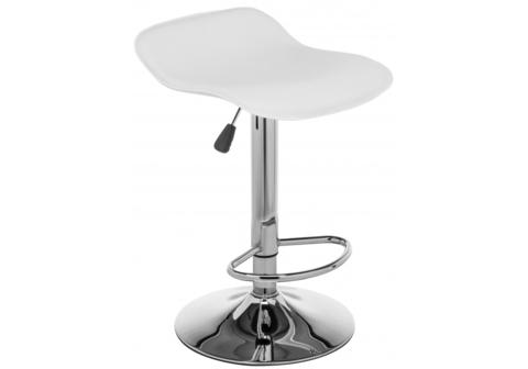 Барный стул Roxy белый 43*43*60 - 83 Белый кожзам /Хромированный металл каркас
