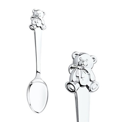 2301010012 - Ложка детская «Мишутка» из серебра