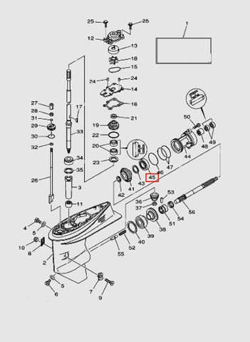 Подшипник для лодочного мотора T40 Sea-PRO (23-45)