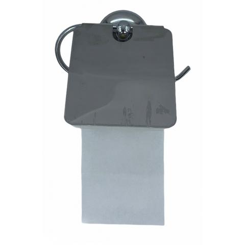 Держатель для туалетной бумаги металлич.хромирован.с крышкой