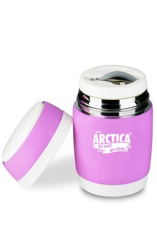 Термос для еды Арктика (0,38 литра), розовый
