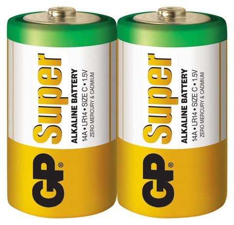 Батарейки GP 14A-S2 Alkaline LR14, C, трей 24/240