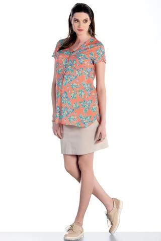 Блузка для беременных 07590 коралл