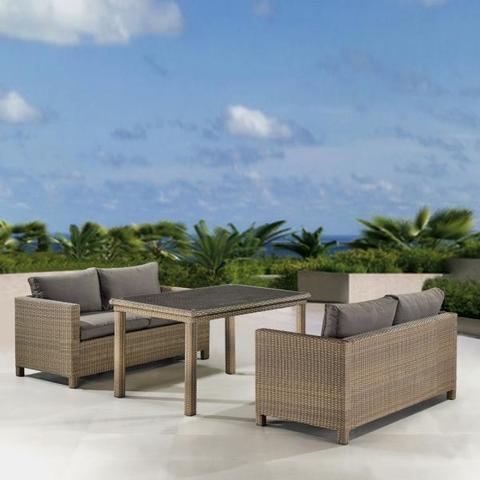 Комплект плетеной мебели T256B/S59B-W65 Light brown