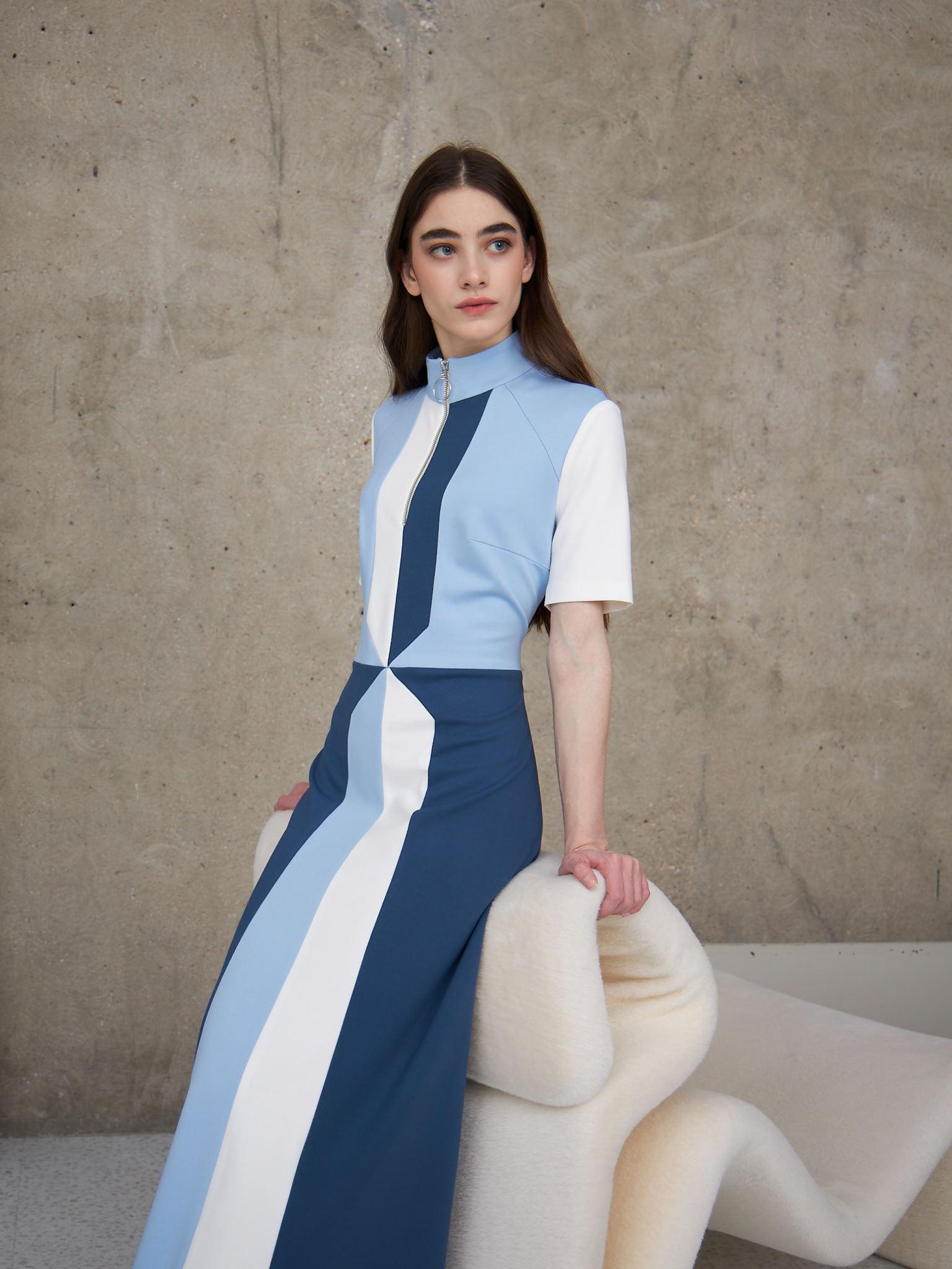 Платье сине-голубое (FW0521)