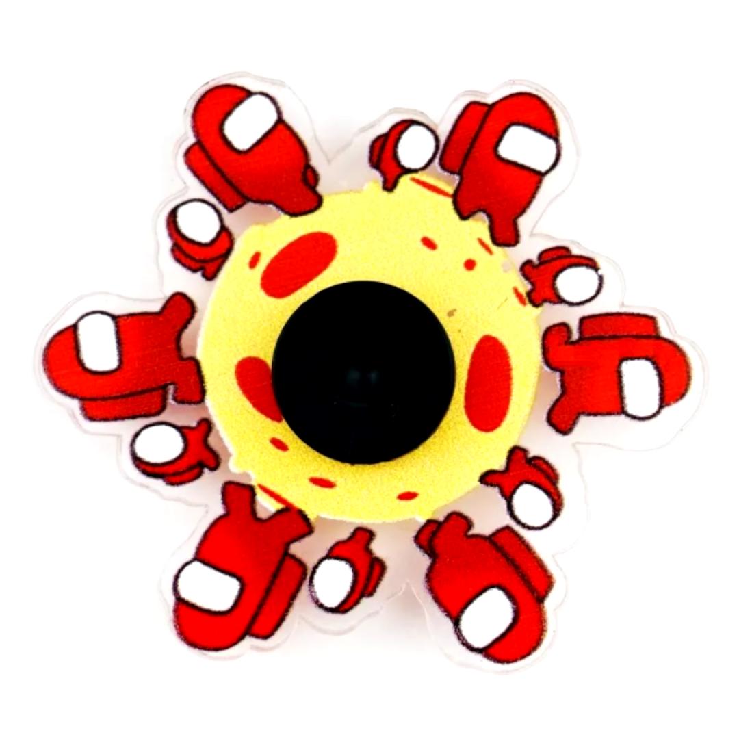 Спиннер 3D бегущий анимационный амонг ас красный