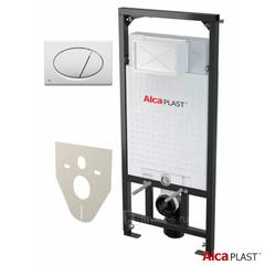 Инсталляция для подвесного унитазов AlcaPlast Sadromodul A101/1200 4 в 1 кнопка смыва белая