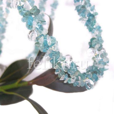 ожерелье из апатита и горного хрусталя