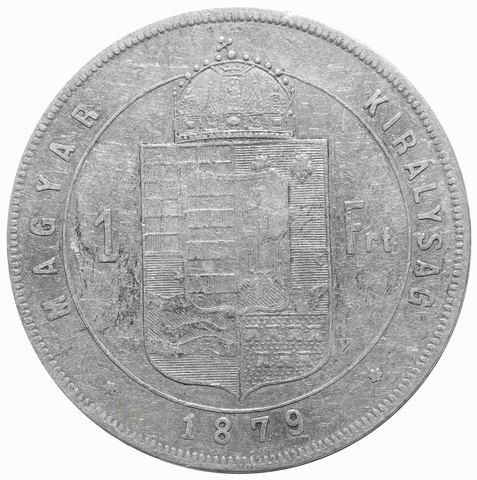 1 форинт 1879 год, Венгрия. VF+