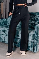 Черный вязаный спортивный костюм оптом