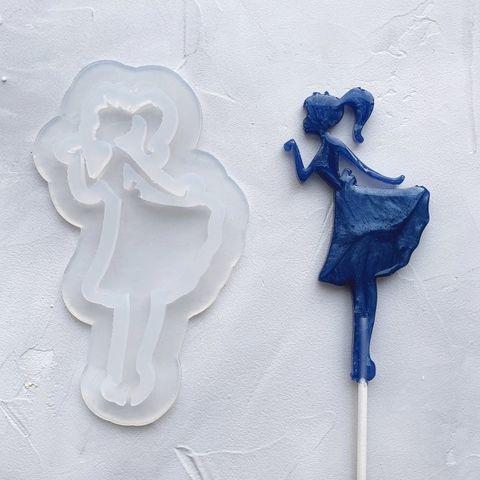 Форма силикон для леденцов №87 Принцесса №3 12 см