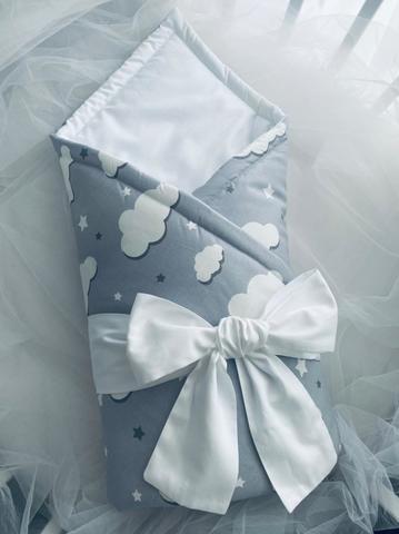 Конверт-одеяло для новорожденных цвет серый