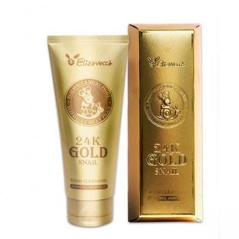 Elizavecca 24K Gold Snail Cleansing Foam очищающая пенка с муцином улитки и 24К золотом для зрелой кожи