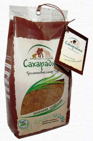 Сахар тростниковый «Сахараджа» 450 г
