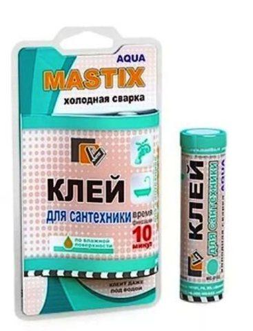 МС 0111 Клей для сантехники MASTIX 55г (холодная сварка )/60шт